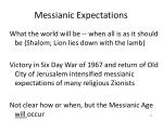 messianic expectations
