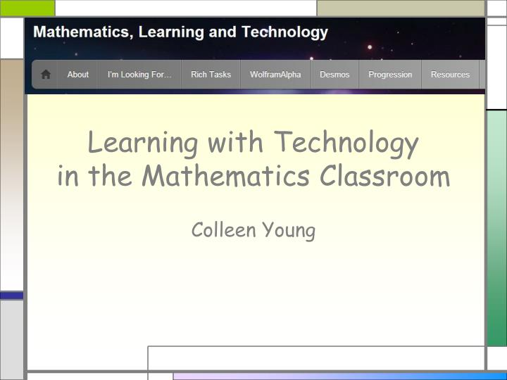 learning with technology in the mathematics classroom n.