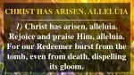 christ has arisen alleluia