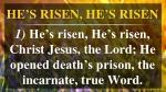 he s risen he s risen