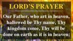 lord s prayer