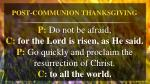 post communion thanksgiving