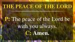 the peace of the lord