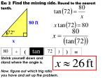 ex 2 find the missing side round to the nearest tenth