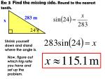ex 3 find the missing side round to the nearest tenth