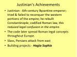 justinian s achievements