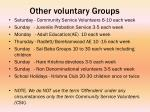 other voluntary groups