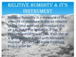 relitive humidity it s instrument