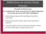 reflections on lesson study process