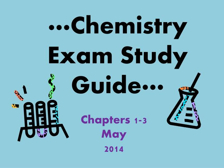 chemistry exam study guide n.