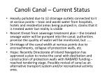 canoli canal current status
