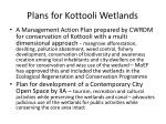 plans for kottooli wetlands