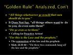 golden rule analyzed con t