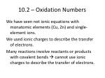 10 2 oxidation numbers
