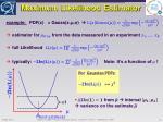 maximum likelihood estimator