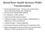 wood river health services pcmh transformation
