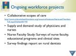 ongoing workforce projects