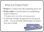 what is a project plan
