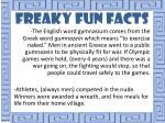 freaky fun facts