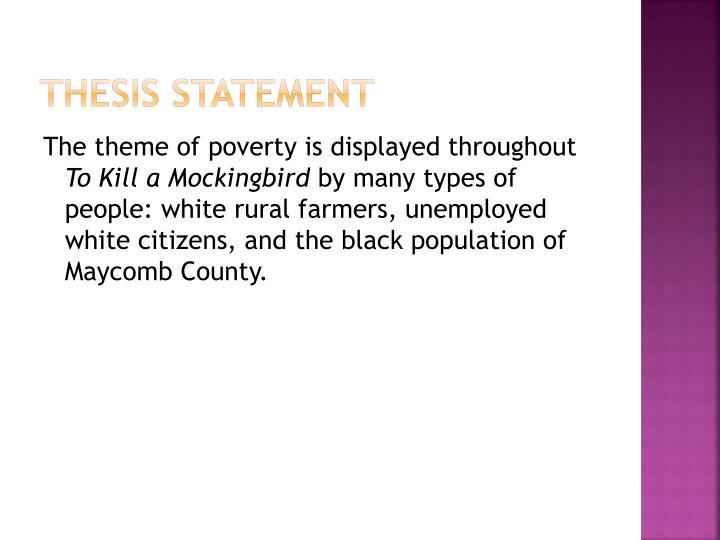 poverty theme statement