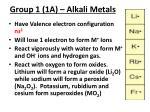 group 1 1a alkali metals
