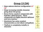 group 13 3a