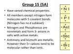 group 15 5a