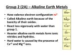group 2 2a alkaline earth metals