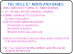 the role of acids and bases