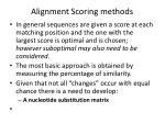 alignment scoring methods