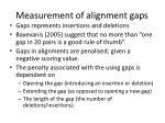 measurement of alignment gaps