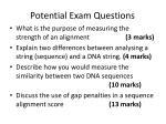 potential exam questions