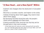 a new heart and a new spirit within