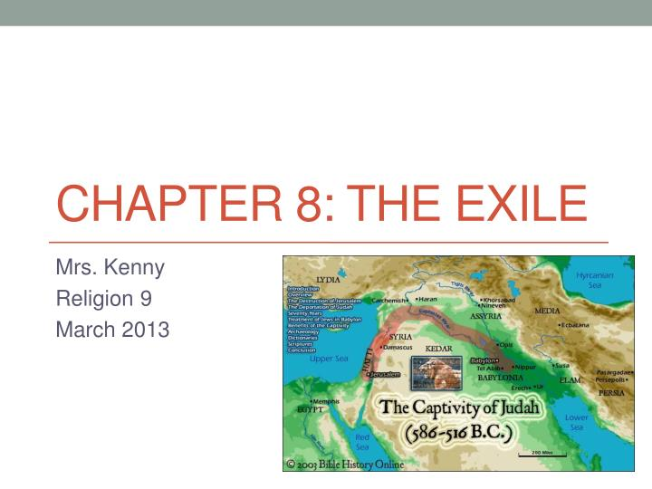chapter 8 the exile n.