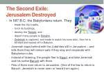 the second exile jerusalem destroyed