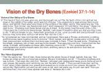 vision of the dry bones ezekiel 37 1 14