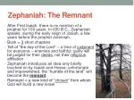 zephaniah the remnant
