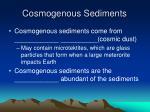 cosmogenous sediments