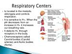 respiratory centers