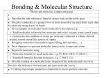 bonding molecular structure1