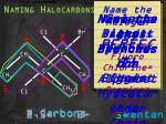 naming halocarbons