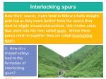 interlocking spurs