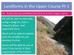 landforms in the upper course pt 1