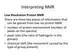 interpreting nmr