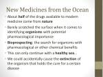 new medicines from the ocean