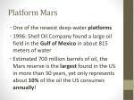 platform mars