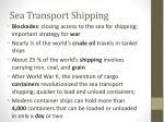 sea transport shipping