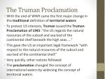 the truman proclamation