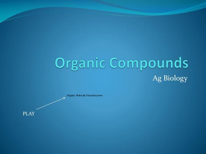 organic compounds n.