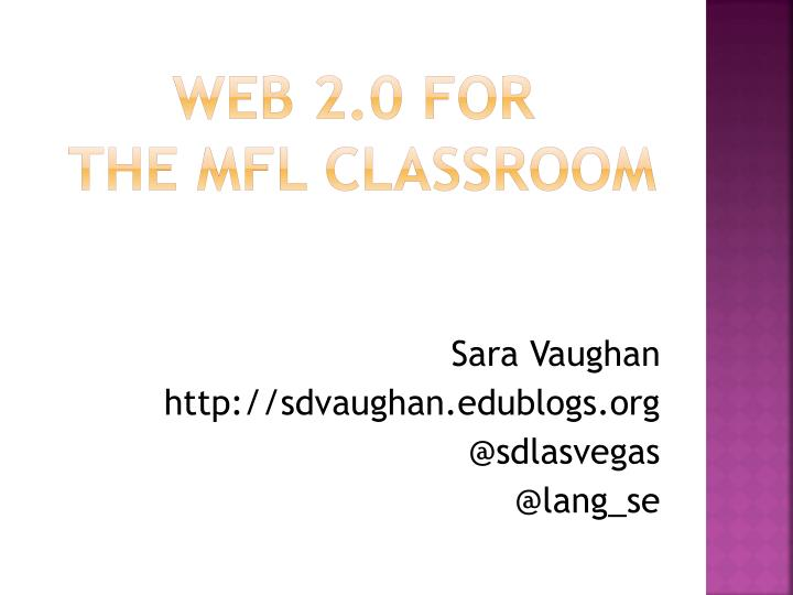 web 2 0 for the mfl classroom n.